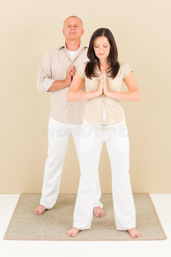 Download Casual Business Yoga Pose Businesspeople Standing Stock Image - Image: 20417383