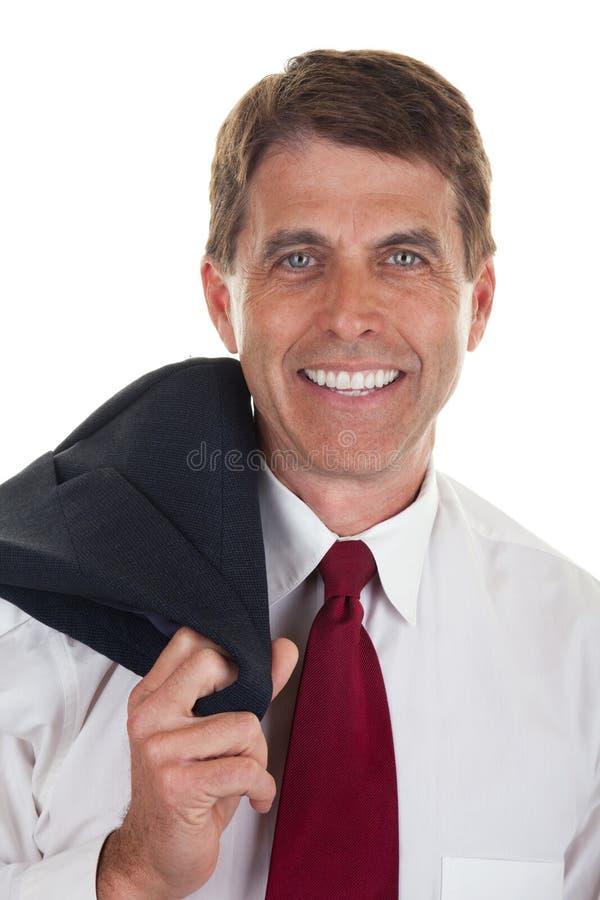 Casual Businessman Closeup royalty free stock photos