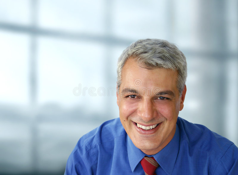 Casual businessman smiling stock images