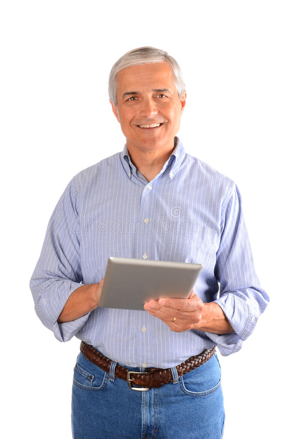Casual Businessman With Tablet Computer Royalty Free Stock Images