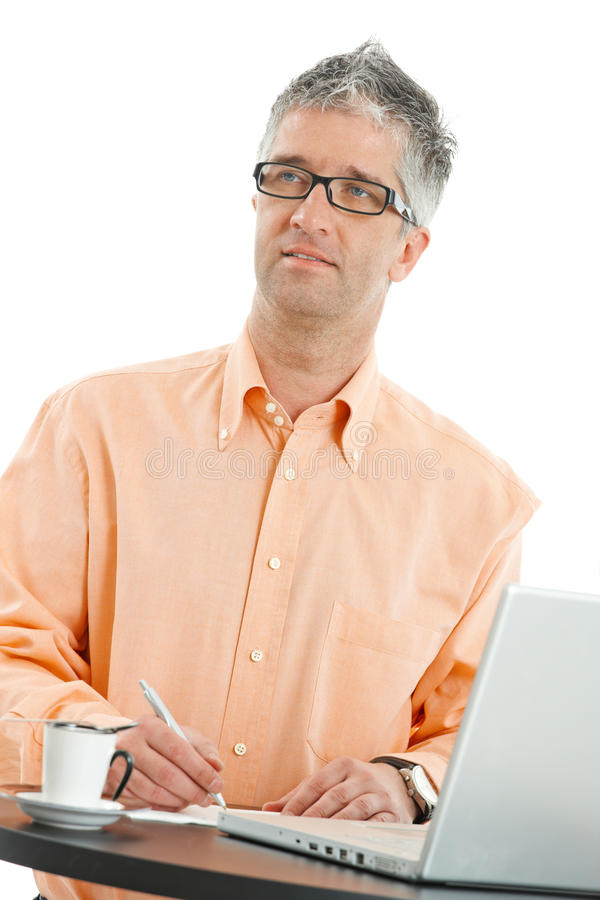 Download Casual Businessman Writing Royalty Free Stock Image - Image: 10095996