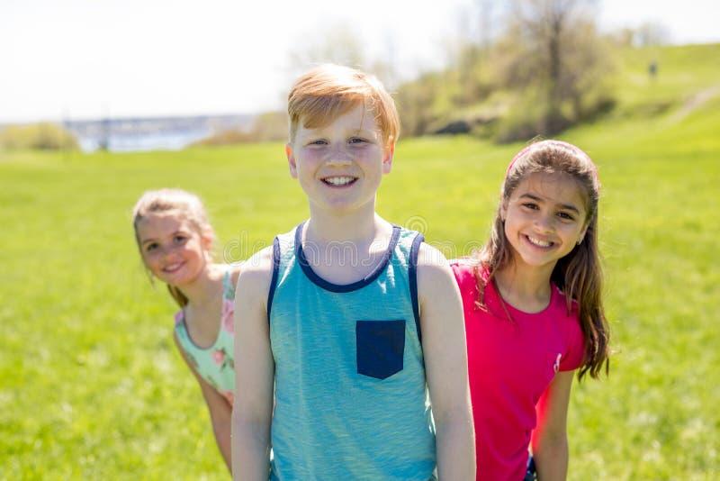 Casual Children Cheerful Cute Friends Kids Concept stock photo