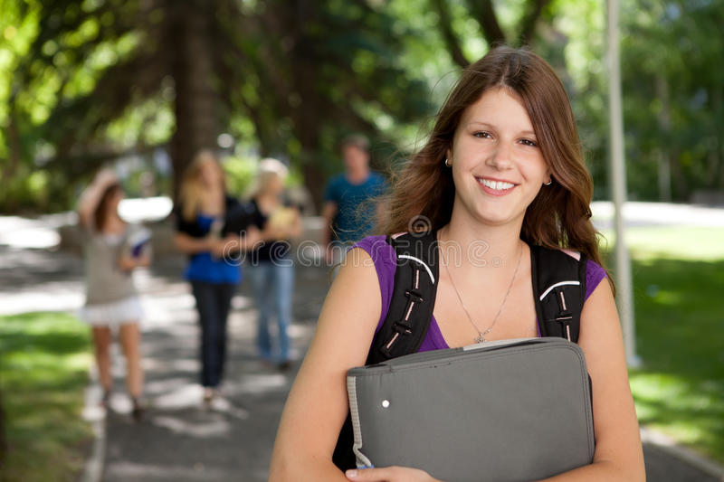 Casual College Girl stock photo