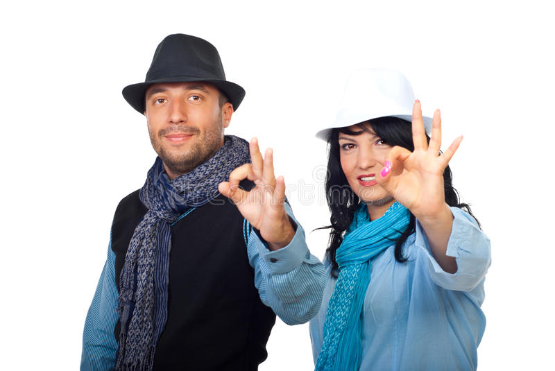 Casual Cool Couple With Hat Stock Image