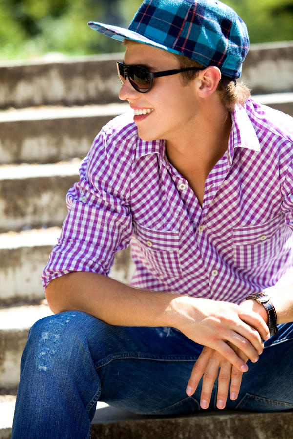 Casual Cool Guy Stock Images