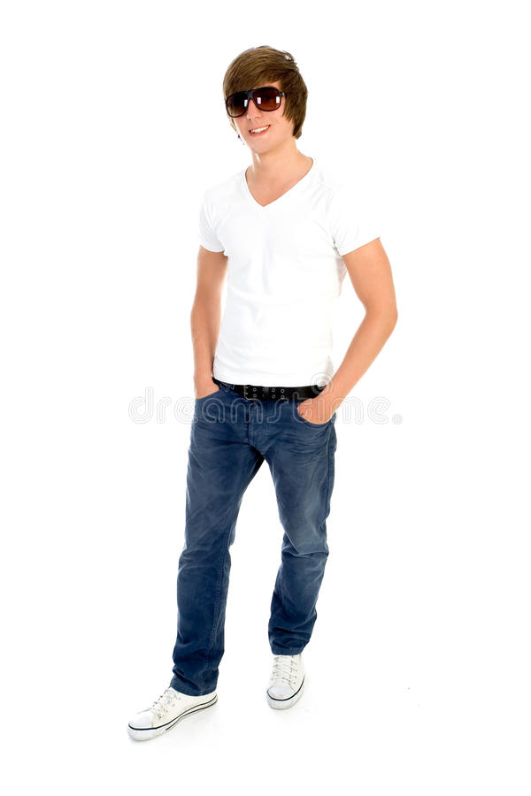 Download Casual cool young guy stock photo. Image of smile, white - 10108398