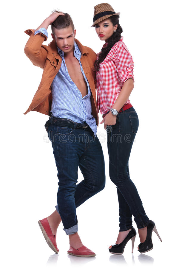 Download Casual Couple Looking Fabulous Stock Photo - Image: 33658588