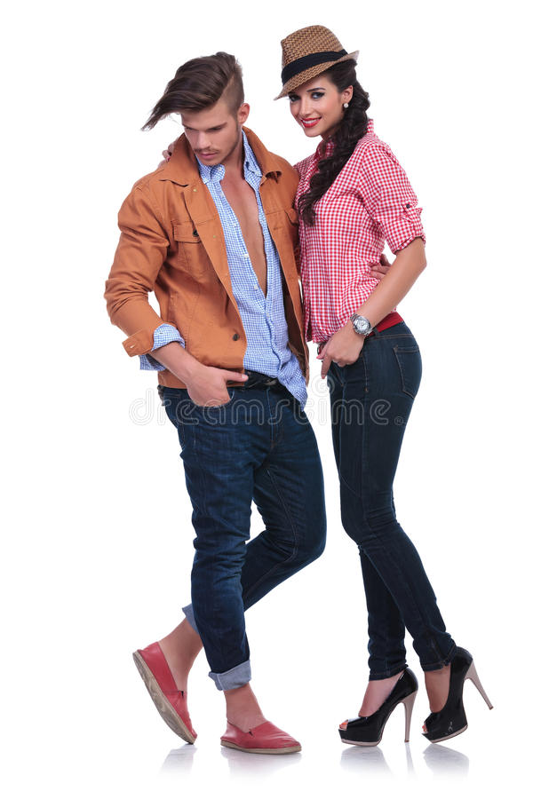 Download Casual Couple With Man Looking Down Stock Image - Image: 33658587