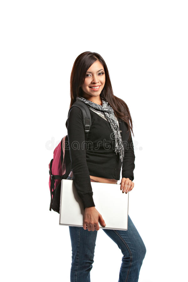 Download Casual Dressed High School Student Stock Image - Image of notepad, smiling: 21270825