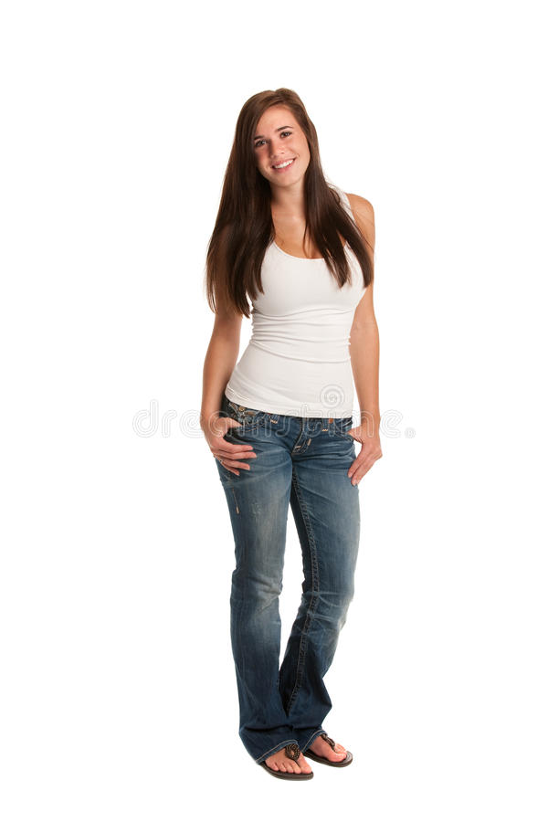 Casual Dressed High School Student Holding Books Stock Photography