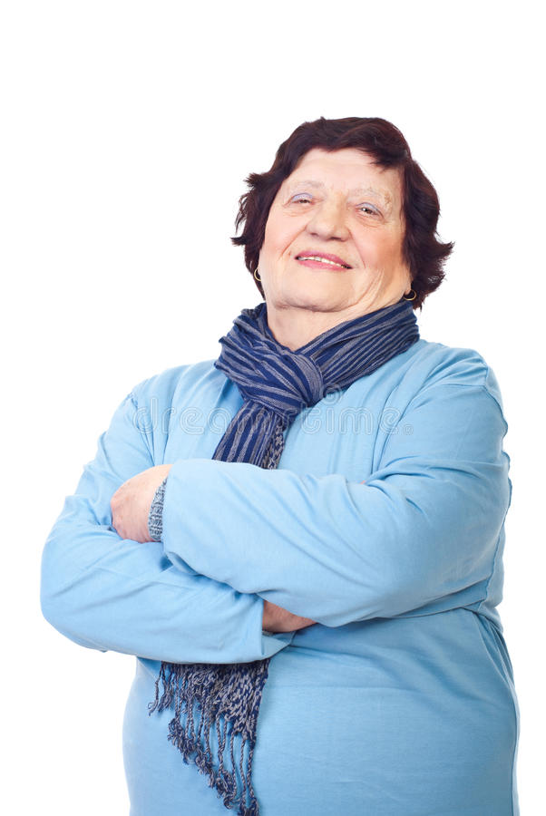 Download Casual elderly woman stock image. Image of happiness - 16463741