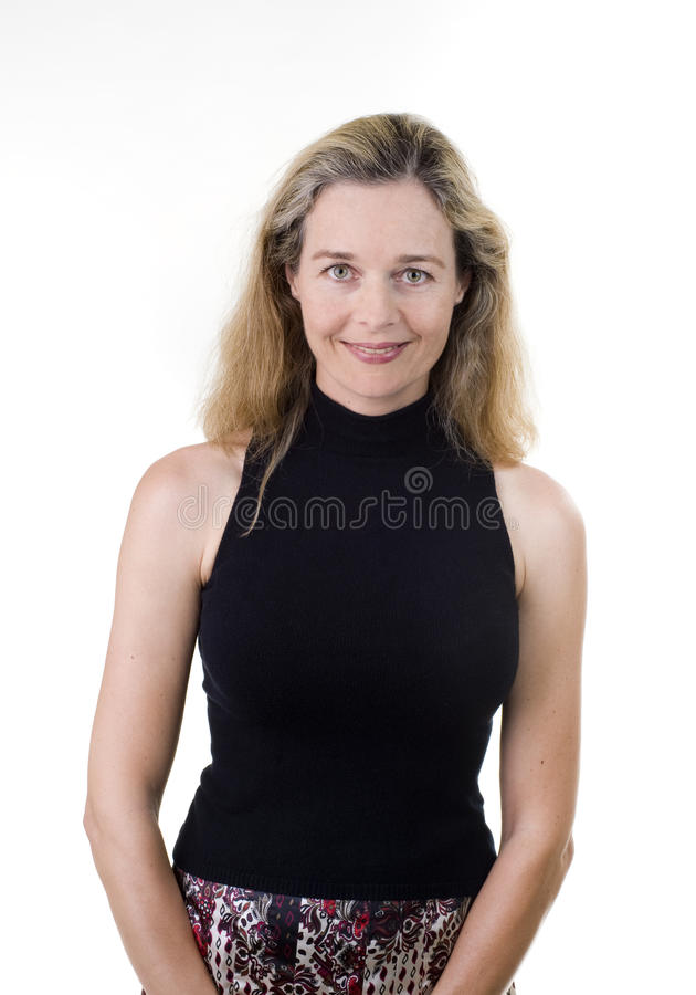 Casual european woman royalty free stock photography