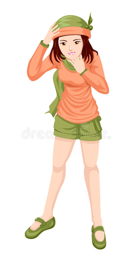 Download Casual Girl stock vector. Image of happy, modern, model - 24514433