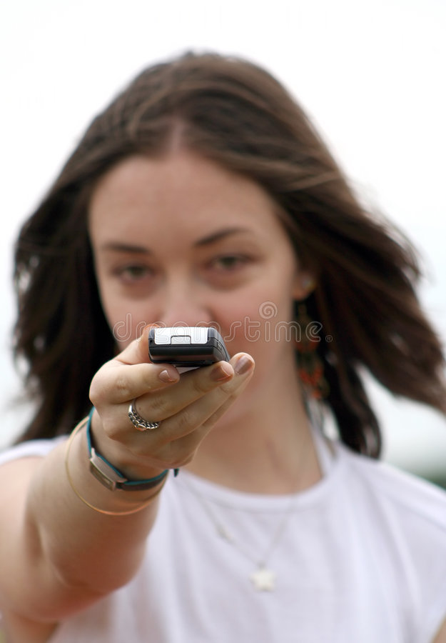 Download Casual girl sms - sally stock photo. Image of dial, content - 174450
