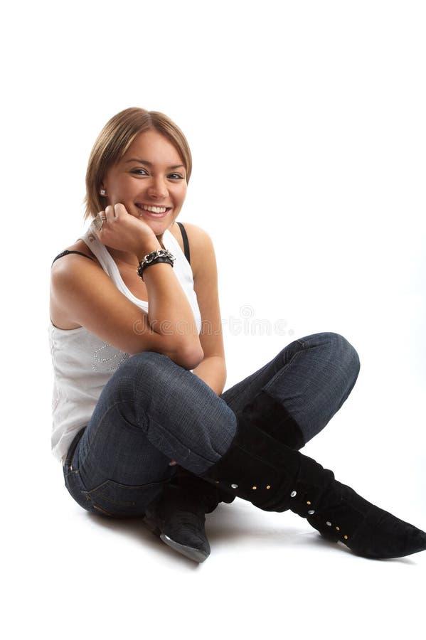 Download Casual Good Looking Woman Young Στοκ Εικόνα - εικόνα από ενισχυμένα, κόκκινος: 1548097