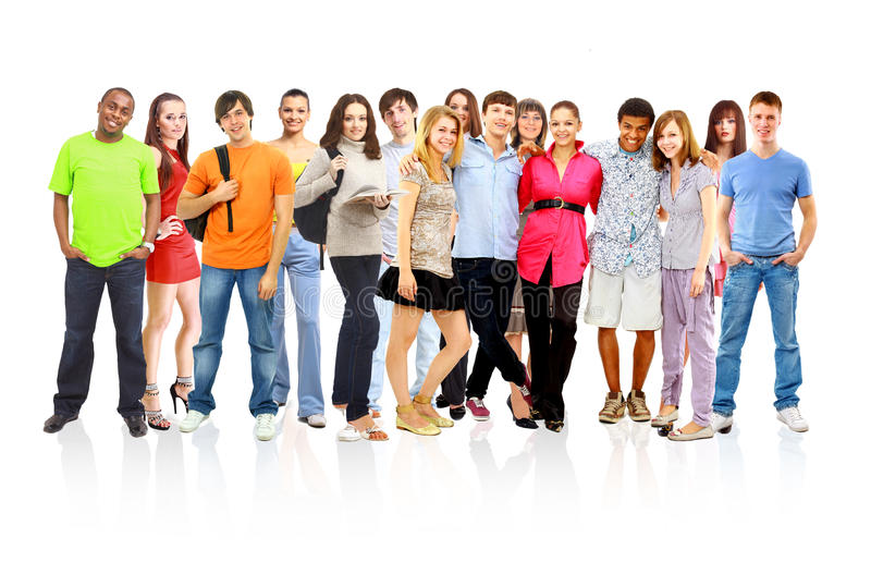 Download Casual Group Of Excited Friends Stock Image - Image: 18100201