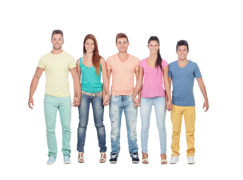 Download Casual group of friends stock image. Image of adult, male - 33327417