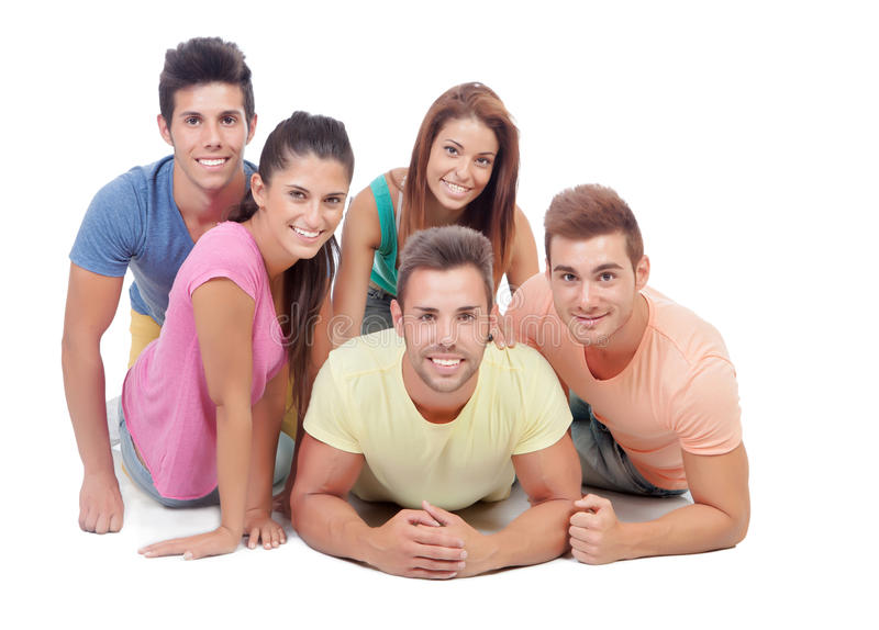 Download Casual group of friends stock photo. Image of smile, males - 33327522
