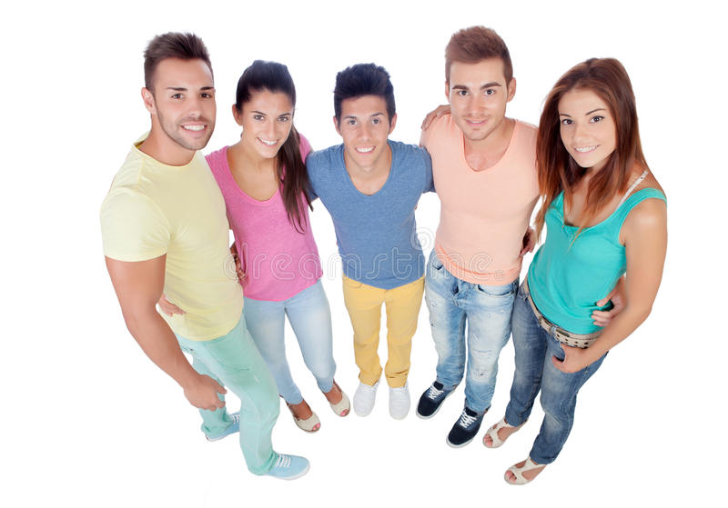 Download Casual group of friends stock image. Image of cheerful - 33327619