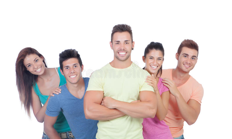 Download Casual group of friends stock image. Image of smile, isolated - 33498117