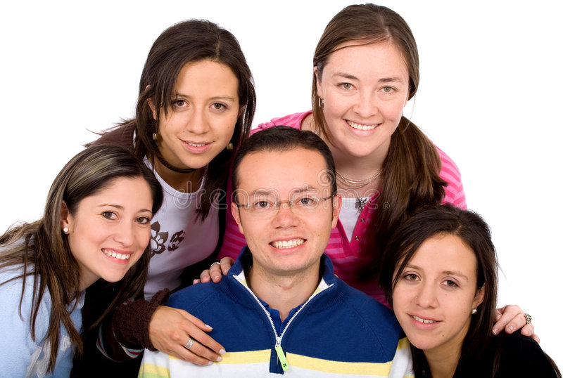 Download Casual group of people stock photo. Image of american - 2442690