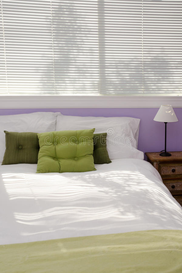 Casual guest bedroom royalty free stock photo