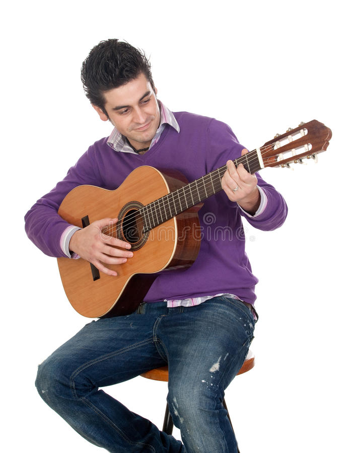 Download Casual guitarist stock image. Image of people, neck, brown - 12596659