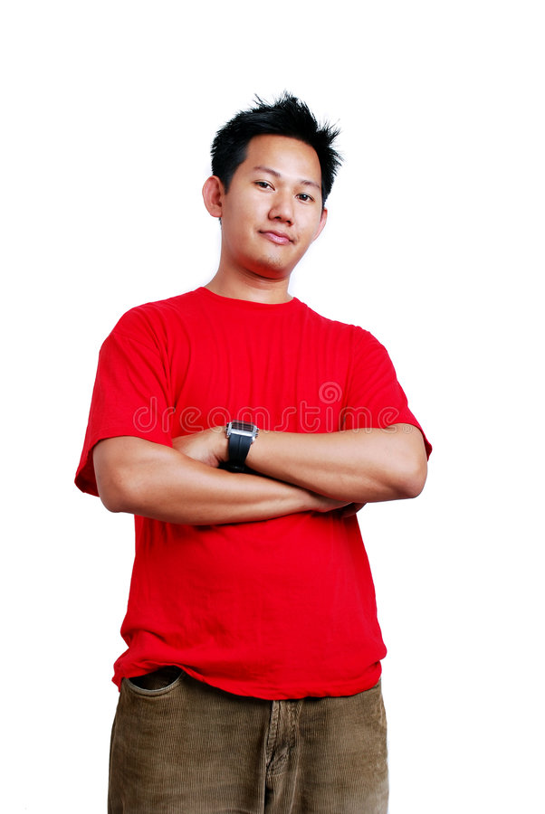 Casual guy. Casual and simple guy on white background stock images