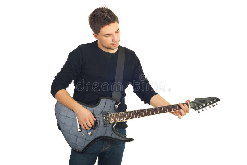 Casual Guy With Guitar Stock Photo