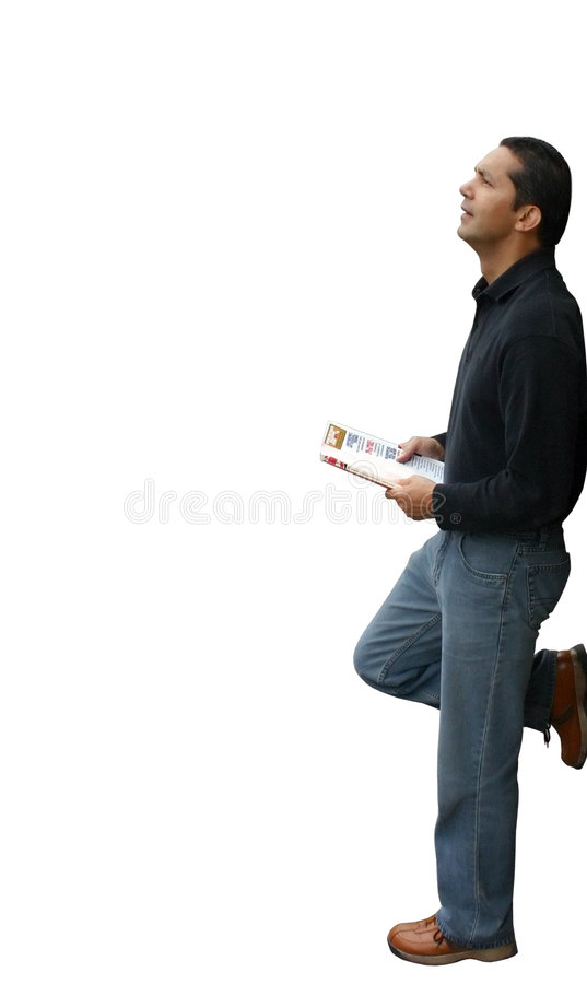 Download Casual Guy Reading A Magazine Stock Image - Image: 108153