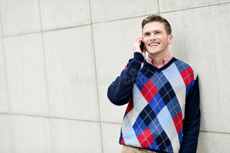 Download Casual Guy Talking On A Cell Phone Stock Image - Image: 39855017