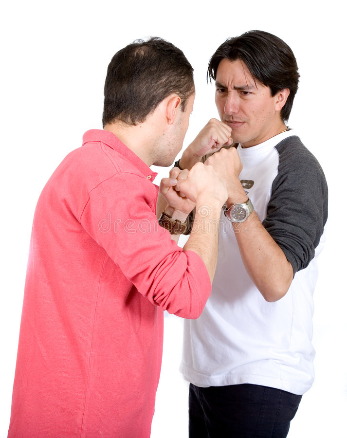 Download Casual guys fighting stock photo. Image of confrontation - 1359486