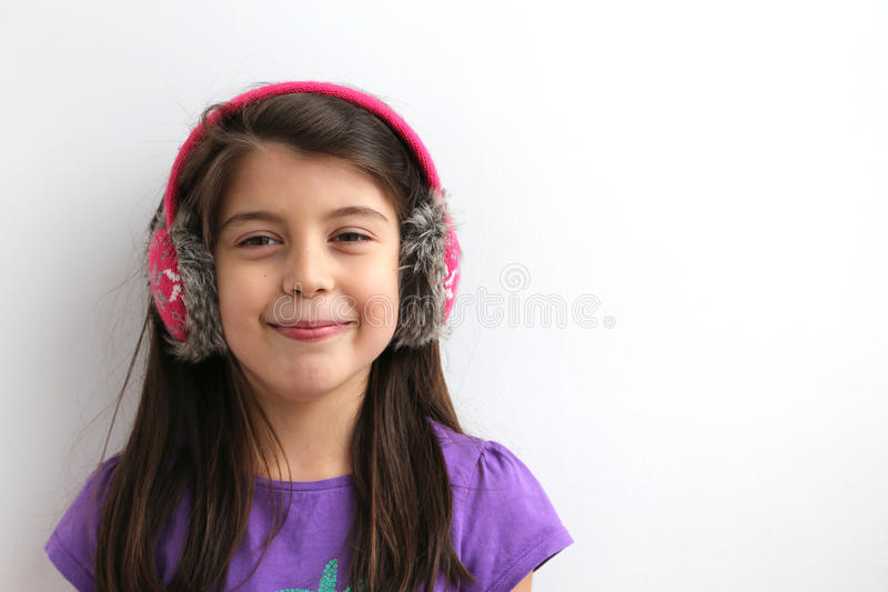 Casual happy caucasian young girl royalty free stock photo