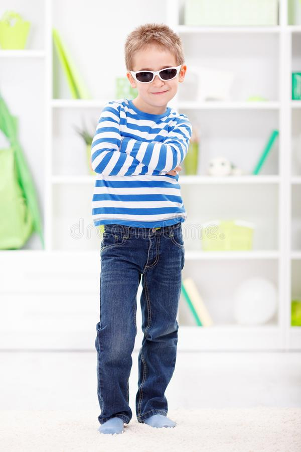 Casual little boy stock image