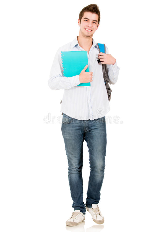Download Casual male student stock photo. Image of adult, learn - 25353774