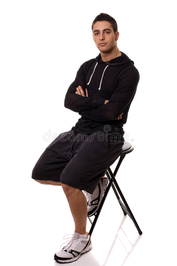 Casual Man. Casual young man. Studio shot over white royalty free stock image