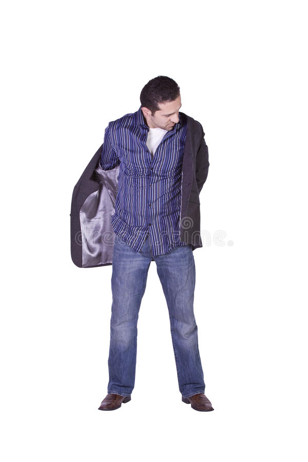 Casual Man Dressing Up royalty free stock image