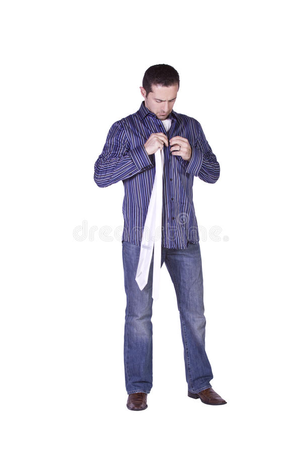 Casual Man Dressing Up royalty free stock photography