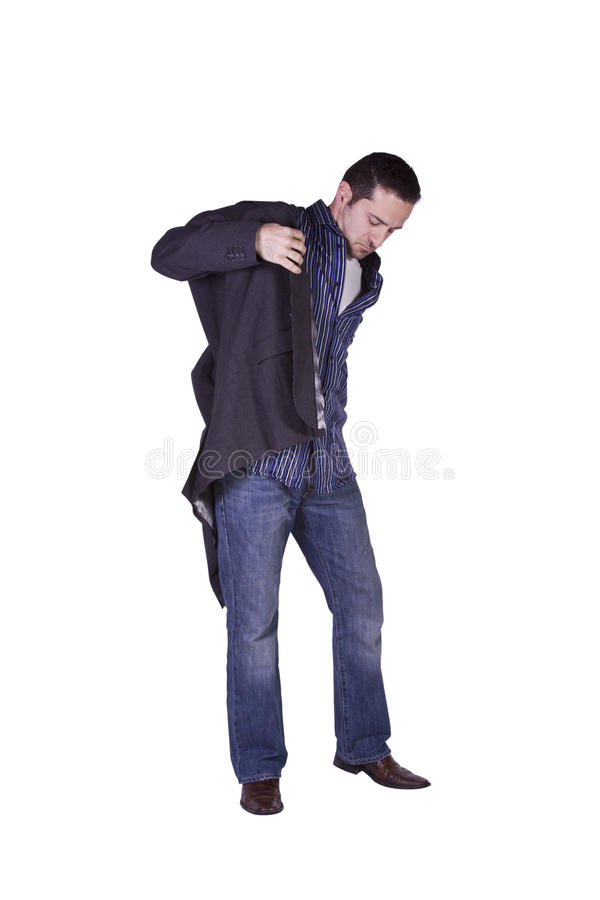 Casual Man Dressing Up stock image