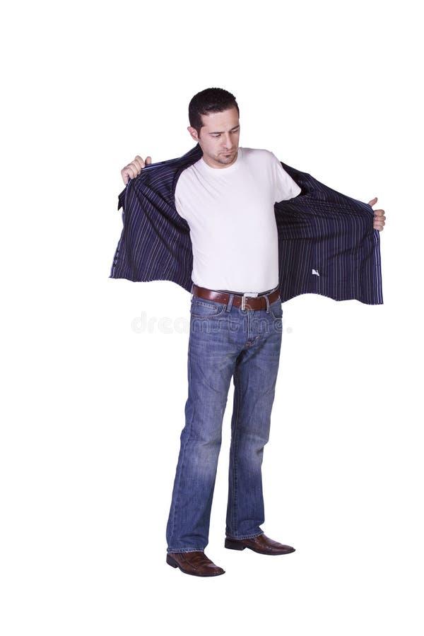 Casual Man Dressing Up royalty free stock photos