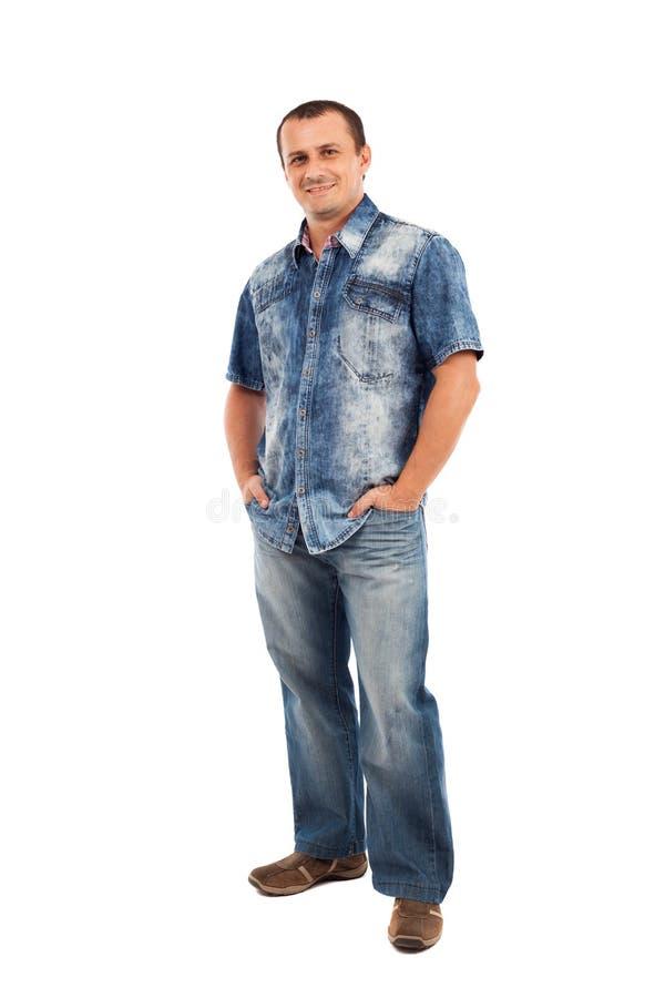 Casual Man, Full Length Royalty Free Stock Image