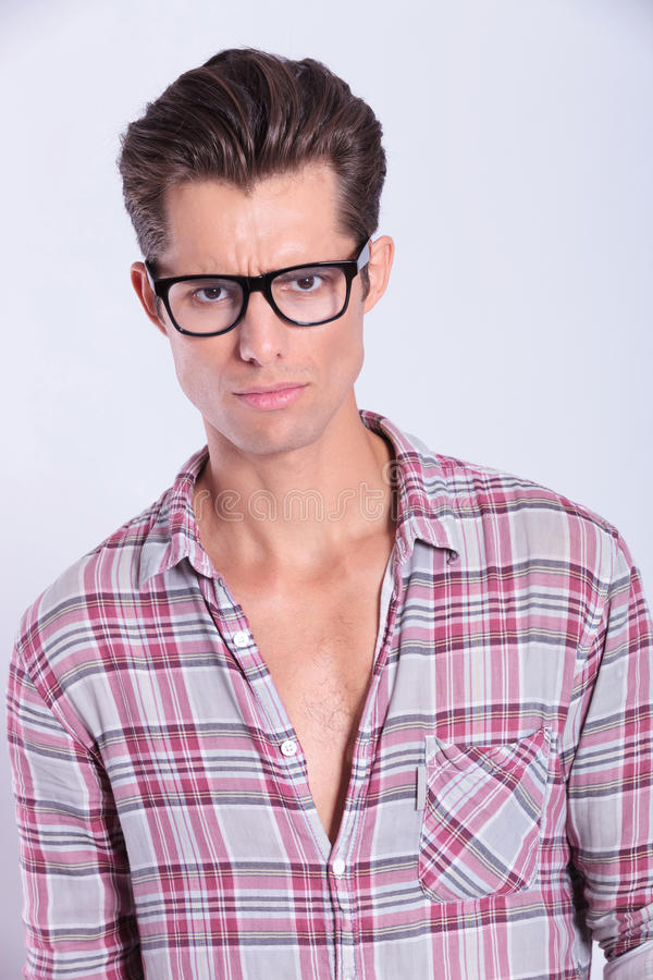 Download Casual Man Looking At You With Sadness Stock Photo - Image: 31680380