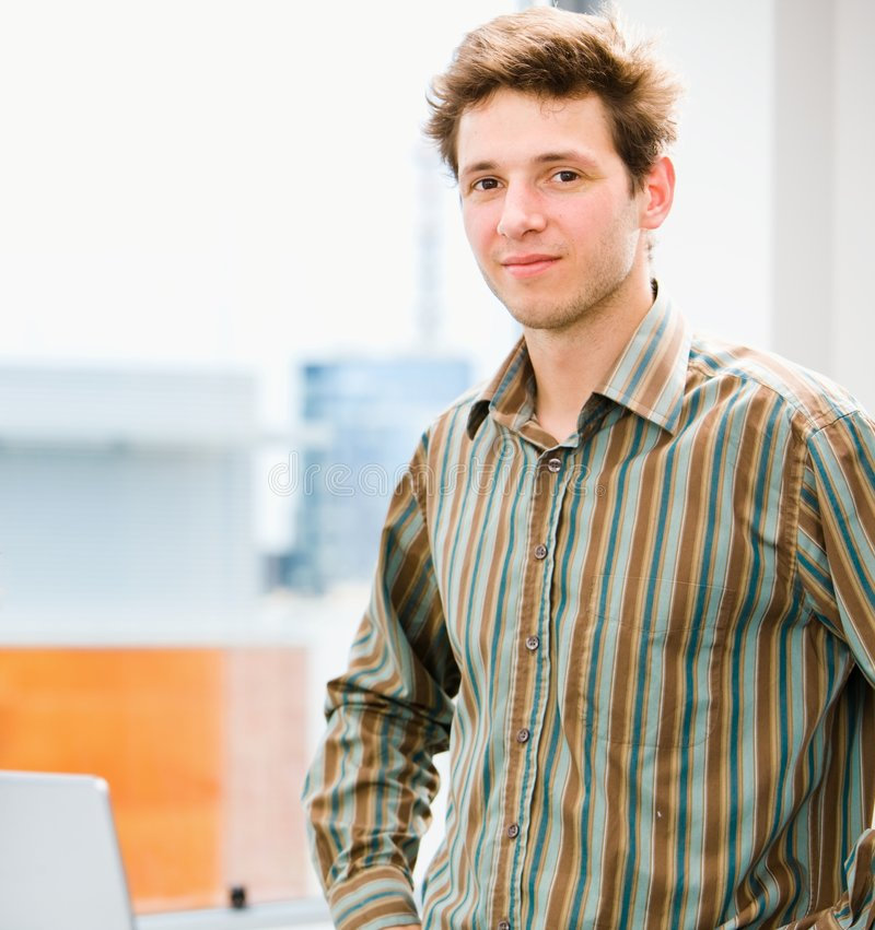 Download Casual man at office stock image. Image of business, friendly - 6283479