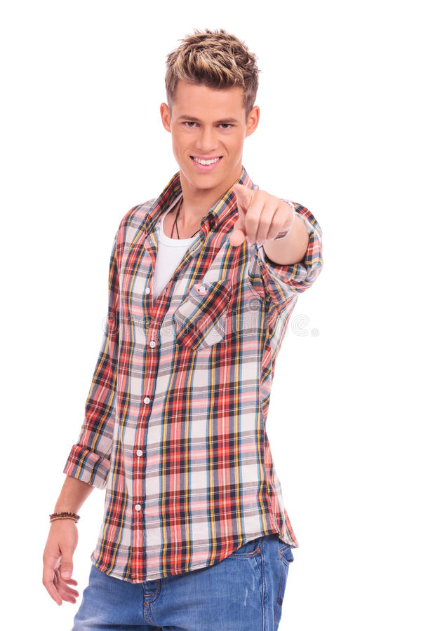 Download Casual man pointing at you stock image. Image of manager - 27446189