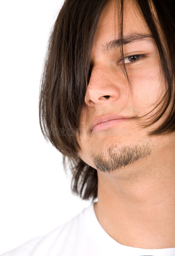 Download Casual man portrait stock image. Image of hair, skin, smile - 3556243