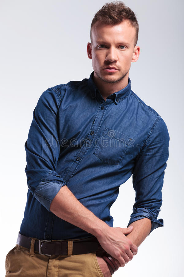 Download Casual Man Posing With Hand In Pocket Stock Image - Image: 31846261
