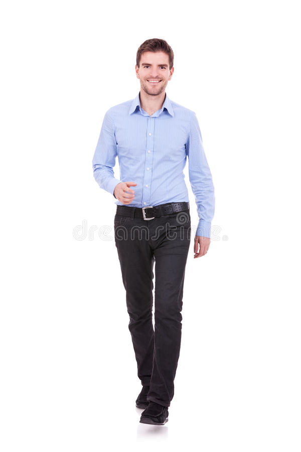 Casual Man is walking