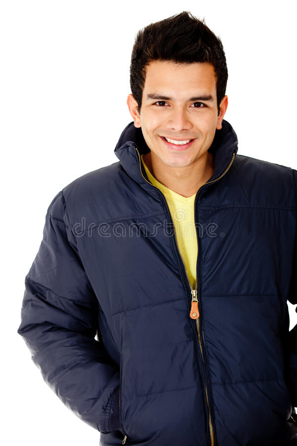 Download Casual man wearing jacket stock photo. Image of white - 23602500