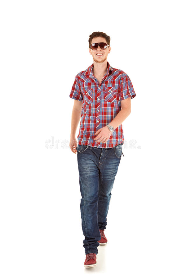 Casual Man on White stock image