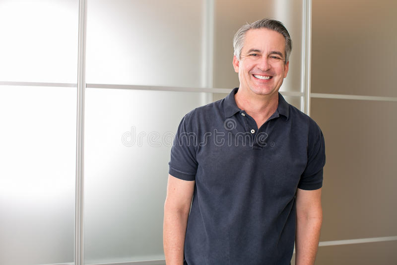Casual mature businessman royalty free stock photos